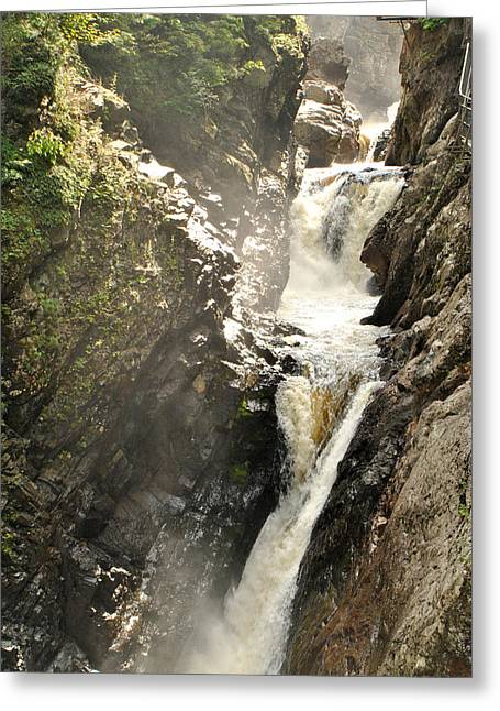 High Falls Gorge Greeting Cards - High Falls Gorge - H Greeting Card by Wayne Sheeler