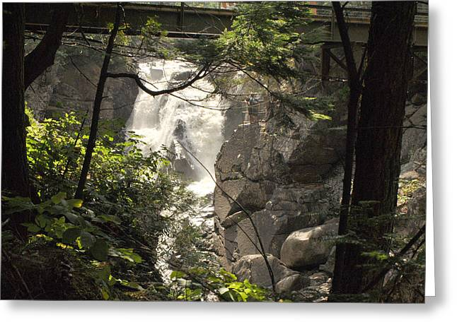 High Falls Gorge Greeting Cards - High Falls Gorge - K Greeting Card by Wayne Sheeler