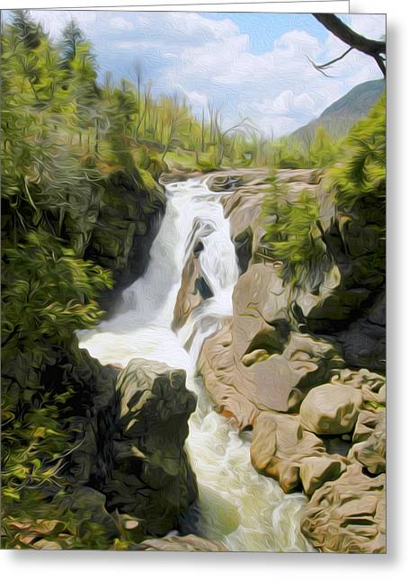 High Falls Gorge Greeting Cards - High Falls Gorge Greeting Card by Tracy Winter