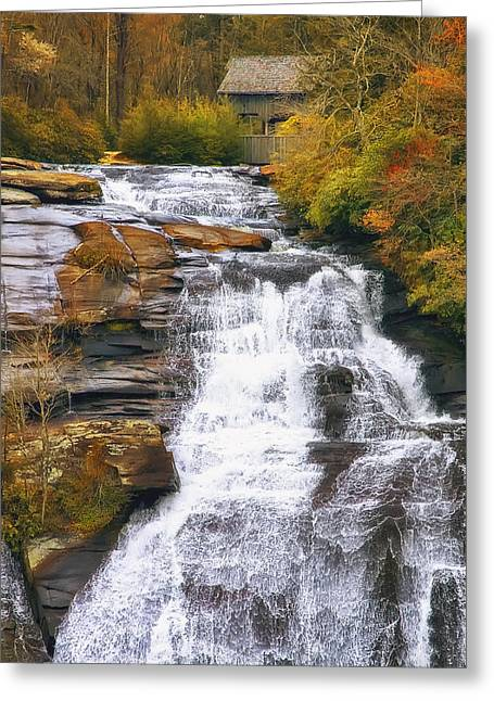 Rapids Greeting Cards - High Falls Greeting Card by Scott Norris