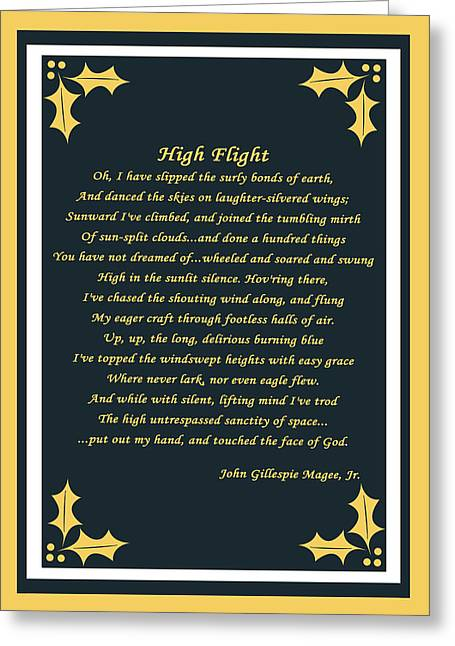 Cecil Fuselier Greeting Cards - High Flight Greeting Card by Cecil Fuselier