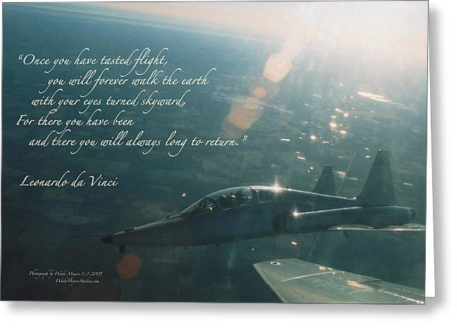 T-38 Leonardo Da Vinci Greeting Card by Wade Meyers
