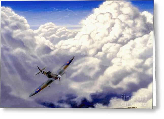 Merlin Greeting Cards - High Flight Greeting Card by Michael Swanson