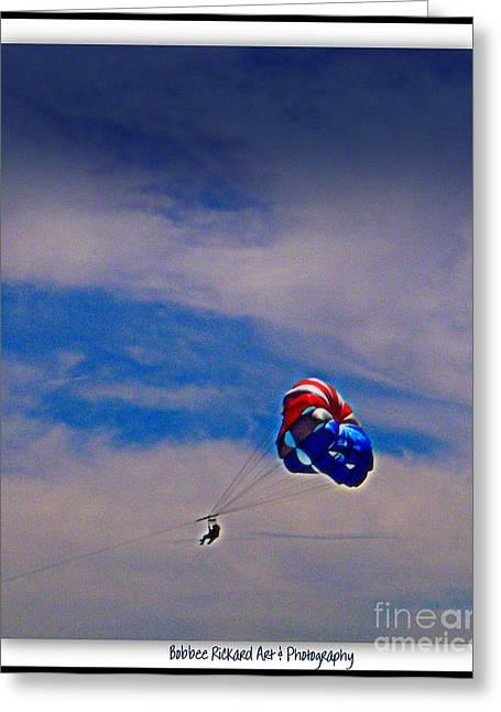 High Flying Greeting Card by Bobbee Rickard