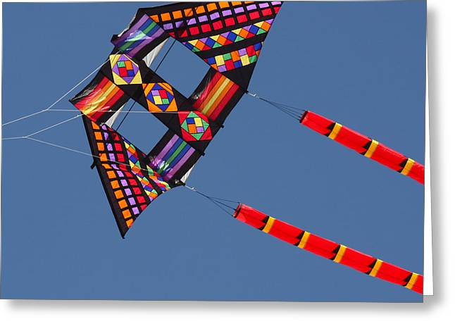 Kite Greeting Cards - High Flying Kite Greeting Card by Art Block Collections
