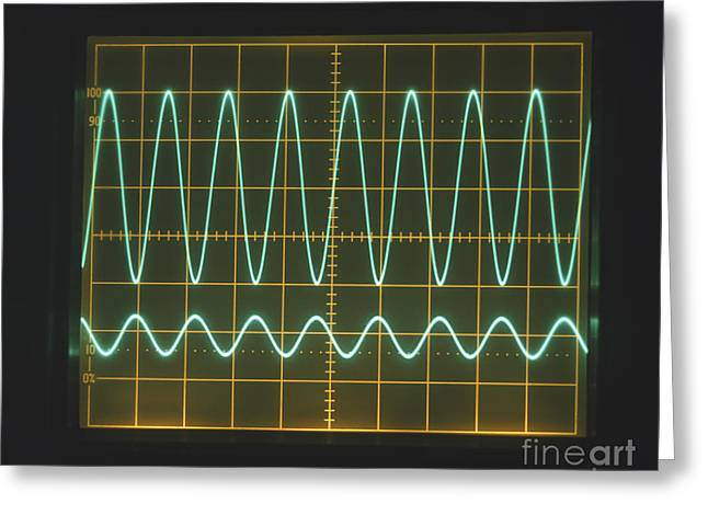 Sine Greeting Cards - High Frequency Sine Waves Greeting Card by Clive Streeter / Dorling Kindersley / Marconi Instruments Ltd