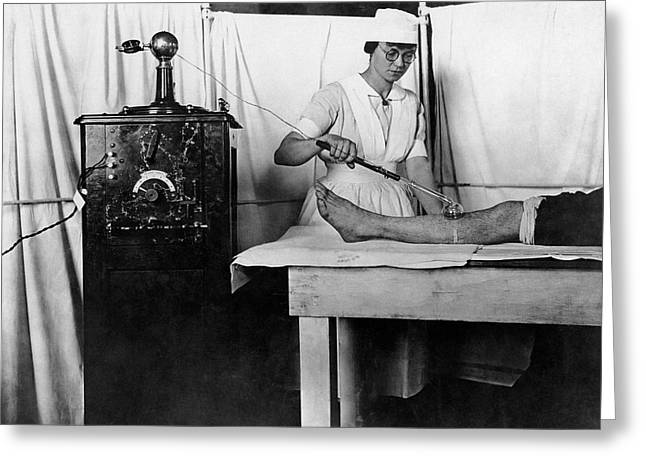 High Frequency Vacuum Treatment Greeting Card by Otis Historical Archives, National Museum Of Health And Medicine