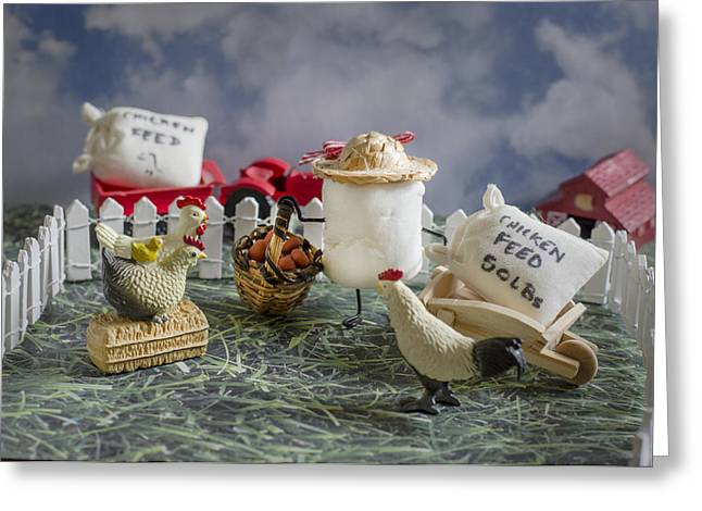 Anthropomorphism Greeting Cards - High Fructose Farming Greeting Card by Heather Applegate