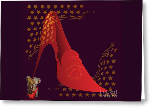 High Heels Abstract Art Greeting Cards - High Heels 2 Greeting Card by Johannes Murat