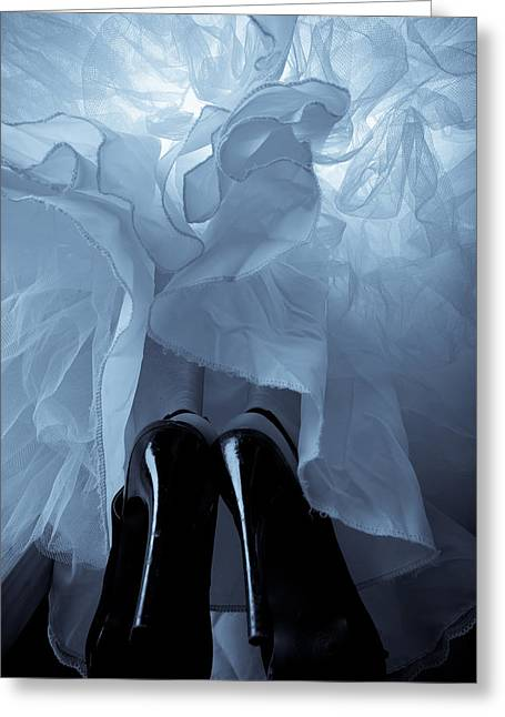 Demure Greeting Cards - High Heels and Petticoats Greeting Card by Scott Sawyer