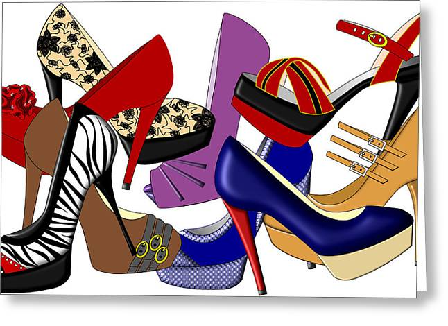 Open Toe Shoes Greeting Cards - High Heels Greeting Card by Marti Snider