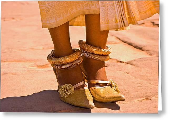 Footwear Love Greeting Cards - High Heels Greeting Card by Martina Kovacova
