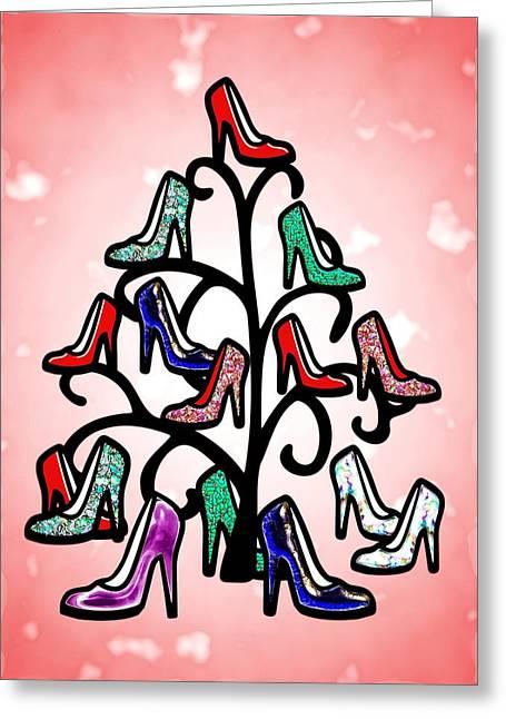 High Heels Tree Greeting Card by Anastasiya Malakhova