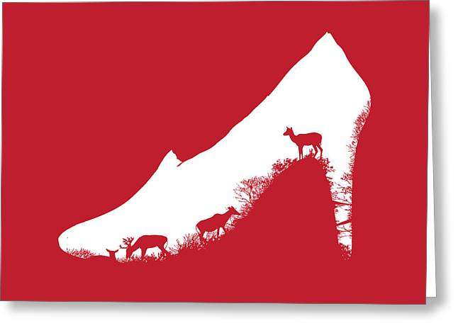 High Heeled Digital Art Greeting Cards - High hill Greeting Card by Budi Kwan