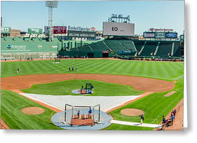 Boston Red Sox Greeting Cards - High Home at Fenway Greeting Card by Alan Marlowe