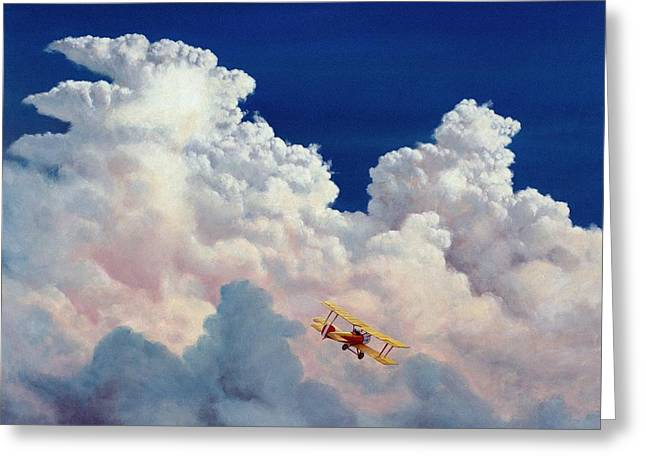 Thunder Paintings Greeting Cards - High in the Halls of Freedom Greeting Card by Michael Swanson