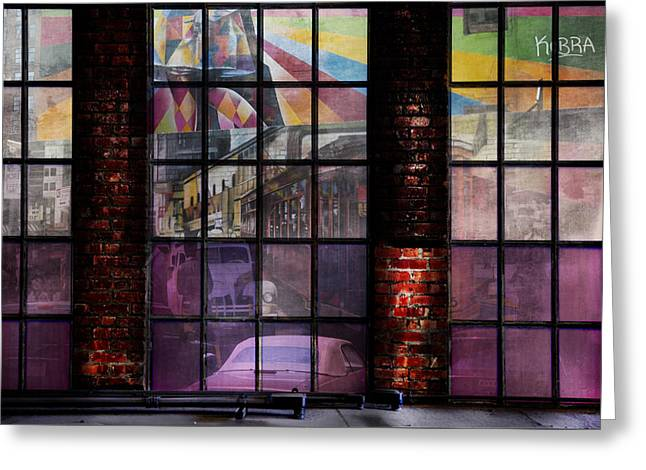 Fushia Greeting Cards - High Line and the Hood New York Greeting Card by Evie Carrier