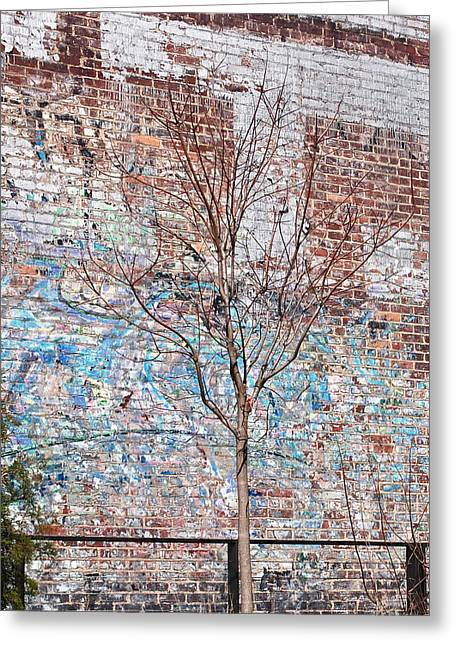 Graffiti Art Greeting Cards - High Line Palimpsest Greeting Card by Rona Black
