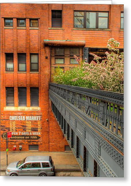 Chelsea Greeting Cards - High Line View Greeting Card by David Hahn