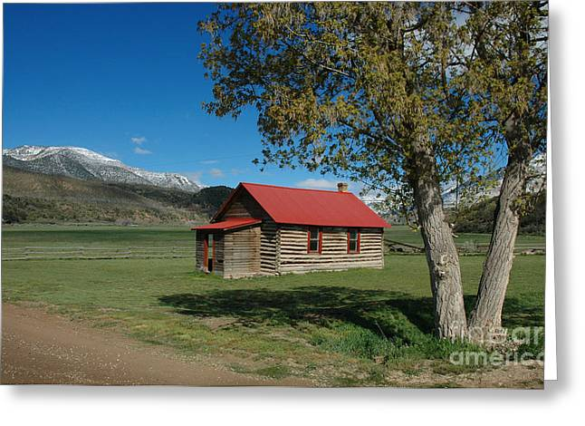 Log Cabins Photographs Greeting Cards - High Lonesome Ranch Greeting Card by Jerry McElroy