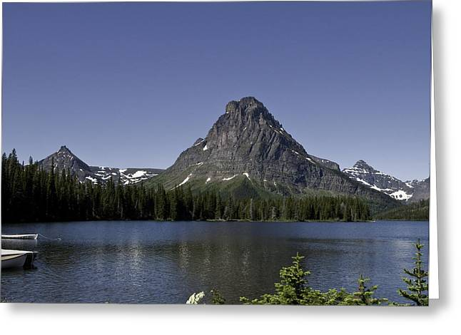 Sea Art Greeting Cards - High Mountain Lake Greeting Card by SEA Art
