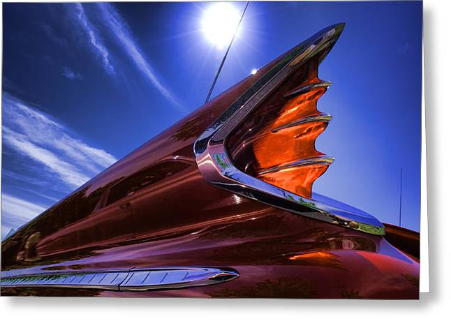 1960 Greeting Cards - High Noon Fish Tailin - Classic De Soto Automobile  Greeting Card by Vlad Bubnov