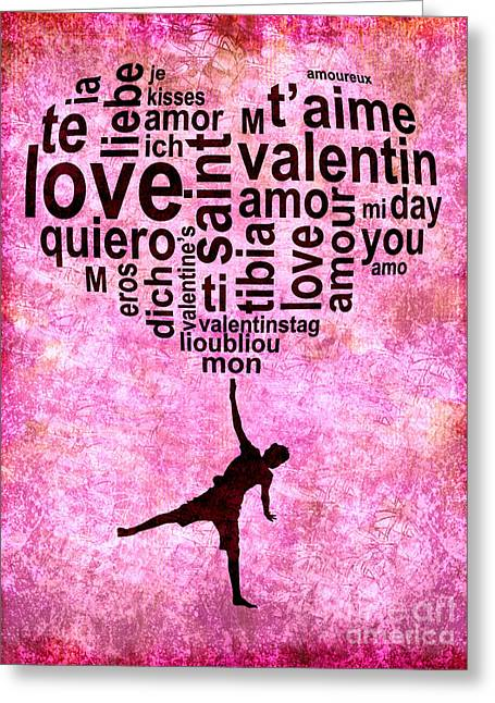 Word Cloud Greeting Cards - High on love Greeting Card by Delphimages Photo Creations