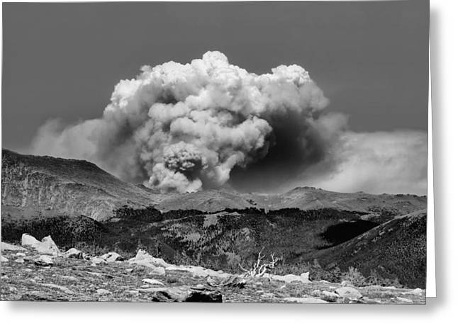 Colorado Fires Greeting Cards - High Park Fire Greeting Card by Ellen Heaverlo
