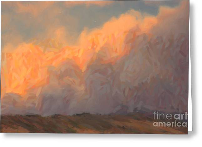 High Park Fire Greeting Card by Jon Burch Photography
