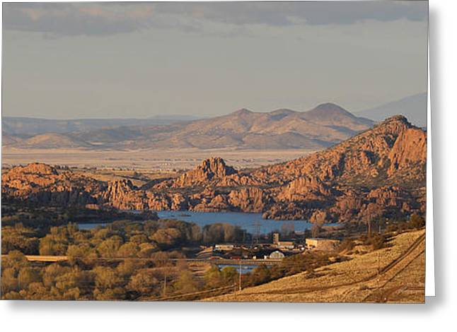 Watson Lake Greeting Cards - High Peaks Above the Dells Greeting Card by Aaron Burrows