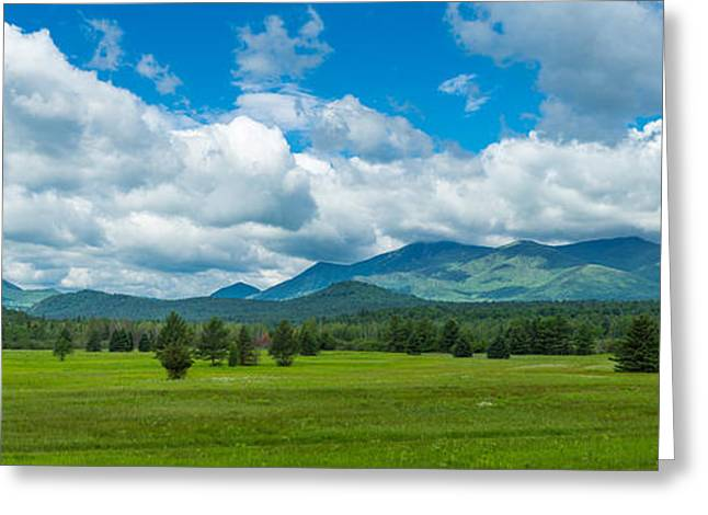 Non Urban Scene Greeting Cards - High Peaks Area Of The Adirondack Greeting Card by Panoramic Images