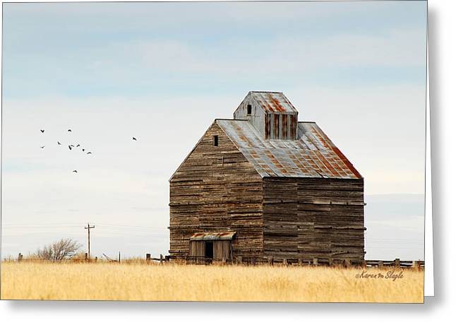High Plains Autumn Greeting Card by Karen Slagle