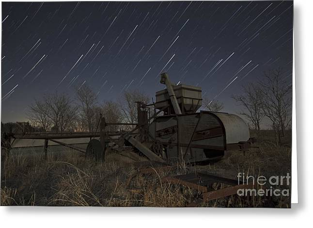 Moon Light Greeting Cards - High Plains Thrasher Greeting Card by Keith Kapple