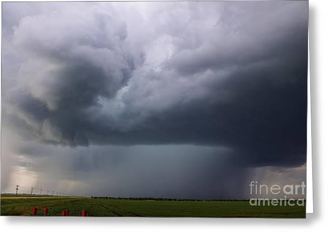 Supercell Greeting Cards - High Precipitation Supercell Greeting Card by Francis Lavigne-Theriault