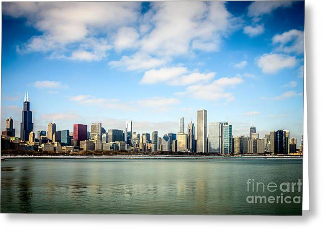 Midwestern Greeting Cards - High Resolution Large Photo of Chicago Skyline Greeting Card by Paul Velgos