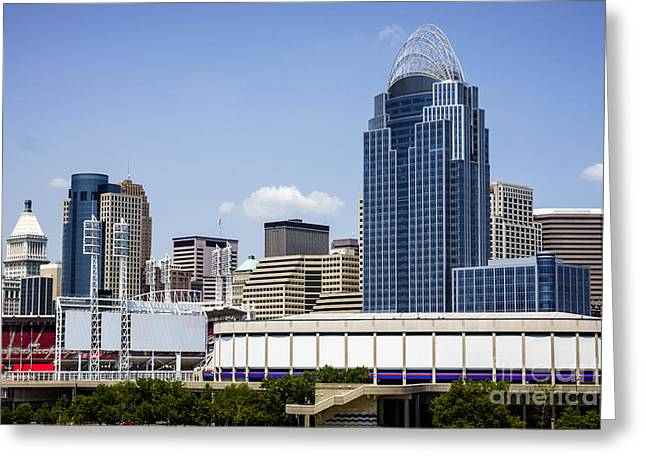 Pnc Greeting Cards - High Resolution Photo of Cincinnati Skyline Greeting Card by Paul Velgos
