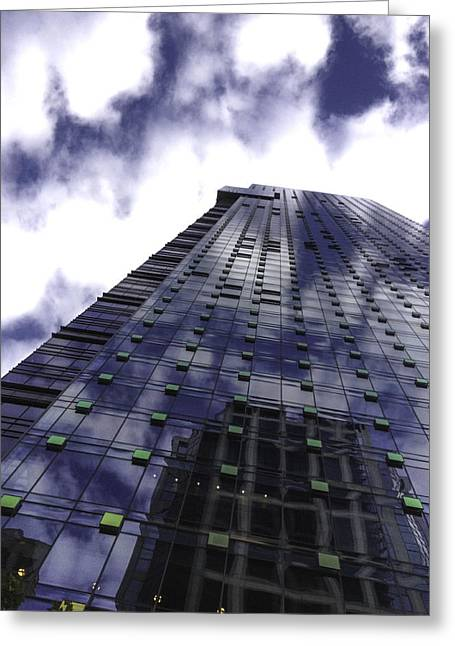 Yun Qing Fu Greeting Cards - High Rise of Clouds Greeting Card by Qing