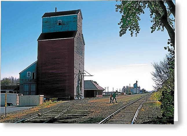 Trains Paintings Greeting Cards - High River Greeting Card by Terry Reynoldson