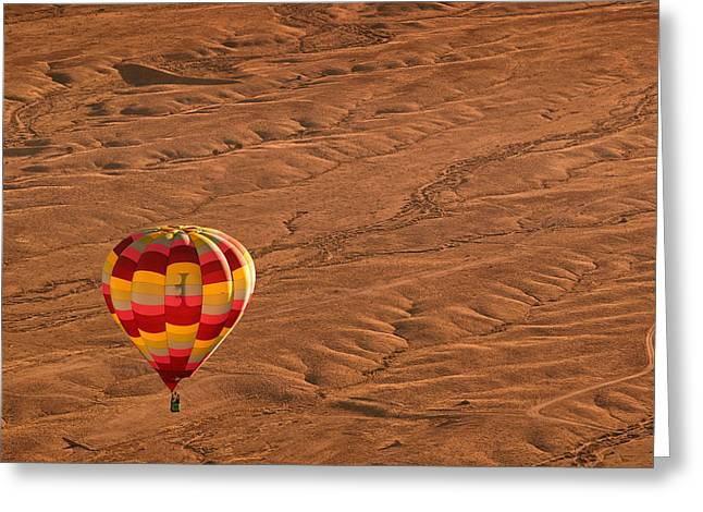 Santa Fe Desert Greeting Cards - High Road Greeting Card by Keith Berr