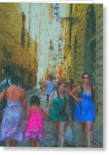Summer Dresses Greeting Cards - High Season Greeting Card by Jenny Armitage