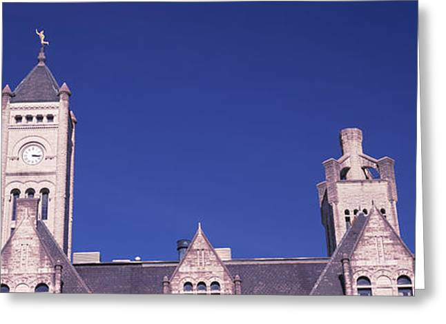 Architecture Of Nashville Greeting Cards - High Section View Of The Union Station Greeting Card by Panoramic Images