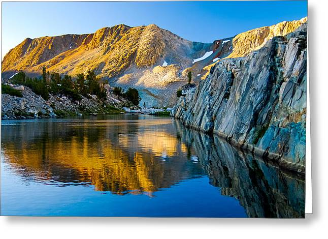 Saddlebag Greeting Cards - High Sierra Reflections  Greeting Card by Baywest Imaging