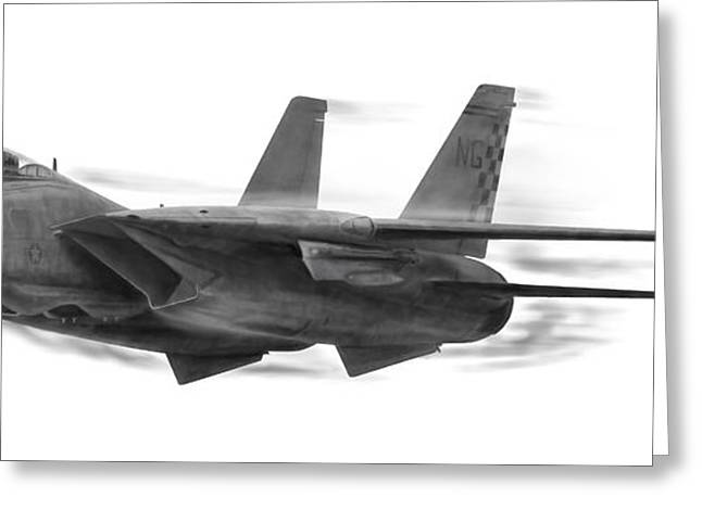 Fighters Greeting Cards - High Speed Pass Greeting Card by Dale Jackson