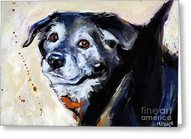 Companion Animal Greeting Cards - High Tail Greeting Card by Molly Poole