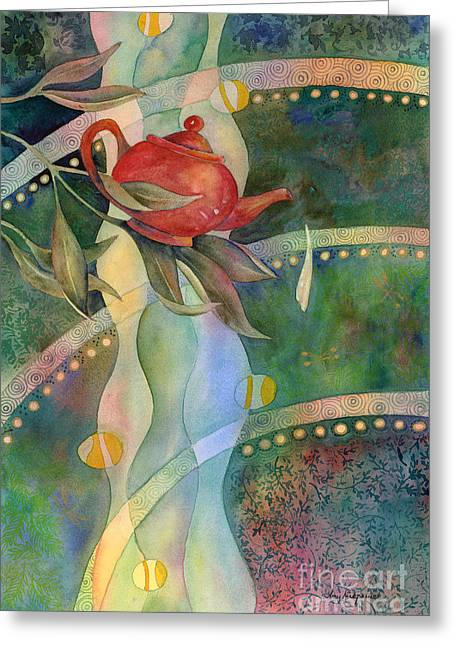 Pitcher Paintings Greeting Cards - High Tea Greeting Card by Amy Kirkpatrick