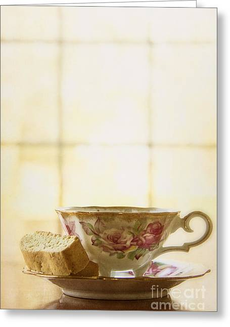 Biscotti Greeting Cards - High Tea Greeting Card by Margie Hurwich
