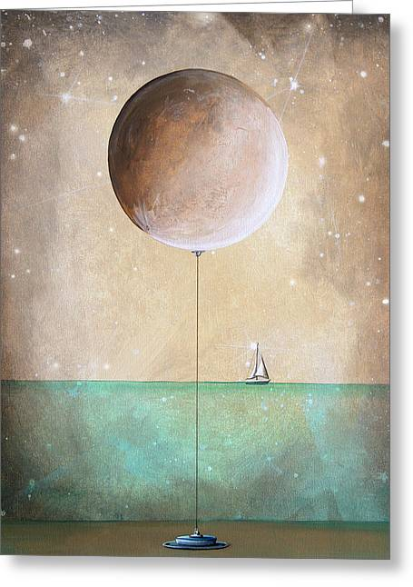 Illustrative Paintings Greeting Cards - High Tide Greeting Card by Cindy Thornton