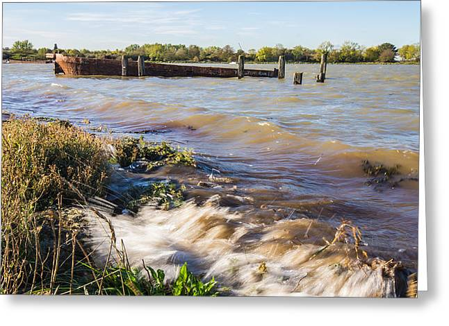 Chatham Greeting Cards - High Tide Greeting Card by Dawn OConnor