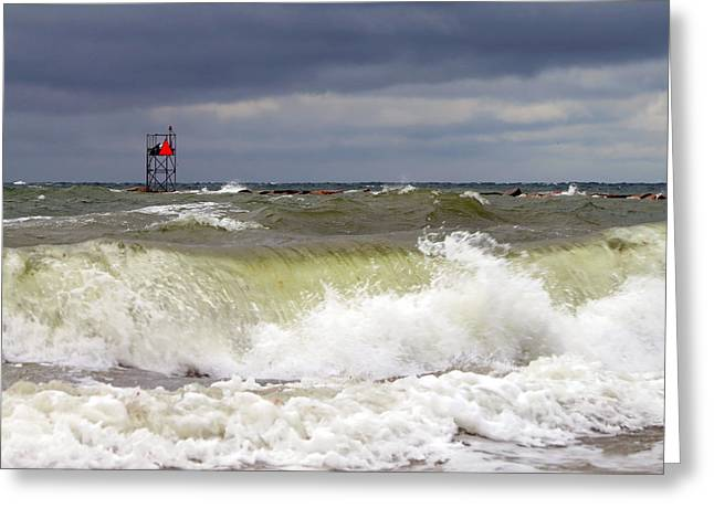 East Dennis Ma Greeting Cards - High Tide Greeting Card by Dianne Cowen