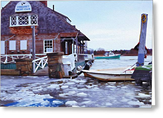 Cohasset Greeting Cards - High Tide in Cohasset II Greeting Card by Carol Sutherland